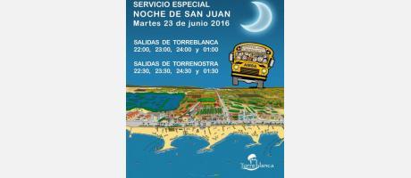 Bus noche de Sant Joan