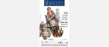 Cartel anunciador Festa de la Ceràmica con pintora.