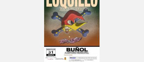 Cartel Concierto Loquillo Buñol 2016
