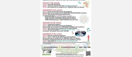 Cartel Fiestas Pla de l'arc