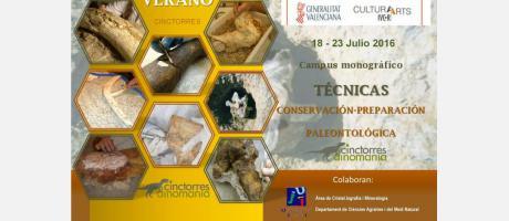 Portada del Programa del Primer Campus Paleontológico en Cinctorres