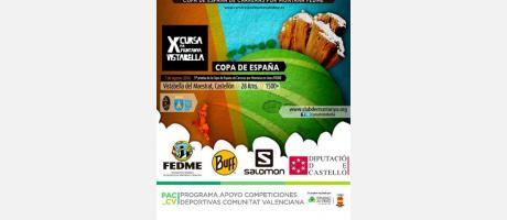 Cartel X carrea de montaña de Vistabella