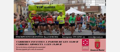"""Cartel XXXI """"Volta a peu al Castell"""" de Atzeneta"""