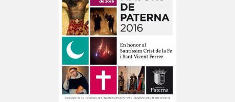 Cartel de Fiestas Paterna 2016