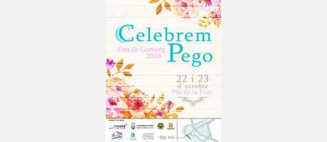 Cartel de la Feria de comercio de Pego