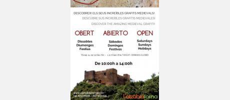 Cartel Visitas Castillo de Forna