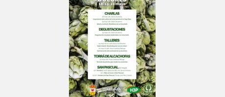 Cartel Fiesta Fin de campaña alcachofa y Fiestas de San Pascual