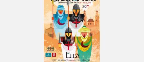 Cartel Moros y Cristianos Elda 2017