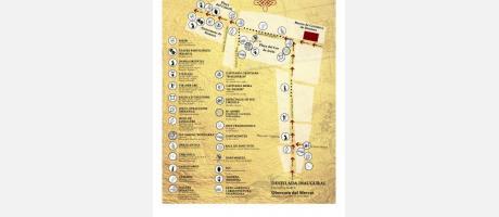 Plano con ubicación de los espectáculos y actividades del mercado.