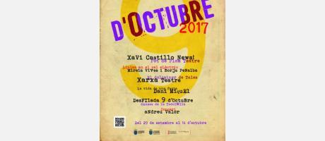 Cartel anunciador de la programación de actividades 9 d'octubre Borriana 2017