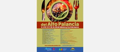Cartel XXI Jornadas Gastronómicas Alto Palancia