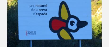 Cartel del Parque Natural de la Sierra de Espadán