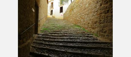 Escaleras del santuario de Balma