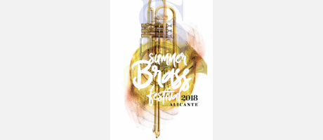 Cartel summer brass festival Alicante 2018