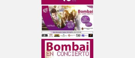 Concierto Bombai Playa Gurugú
