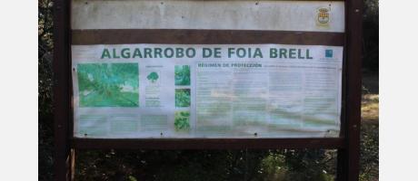 Señalización del Algarrbo
