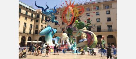 Hogueras San Juan en Alicante