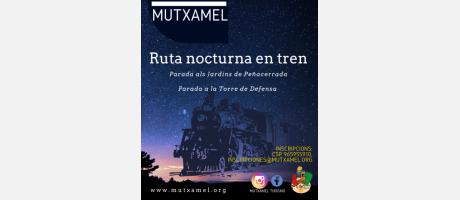 Ruta nocturna en tren per Mutxamel