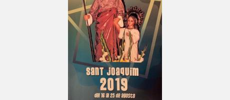 Cartel fiestas Barrio San Joaquin 2019