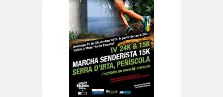 Cuarta 24k & 15k Marcha Senderista 15k Serra d'Irta, Peñíscola
