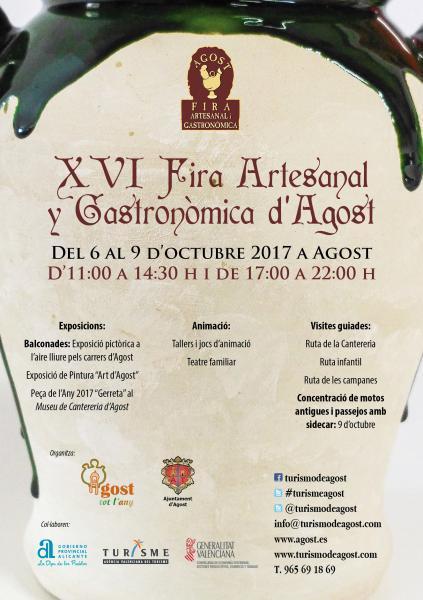 XVI Feria Artesanal y Gastronómica de Agost