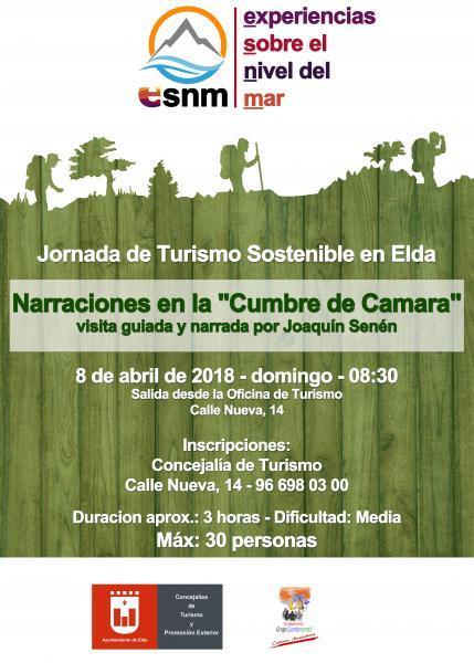 Jornada de Turismo Sostenible. Narraciones en la cumbre de Camara.