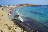 Img 1: Playa de la isla de Tabarca