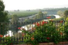 Das Bauernhaus La Terraza, ein Balkon auf den Fluss Júcar