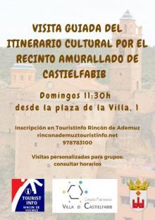 Visita guiada por Castielfabib: todos los Domingos a las 11:30h