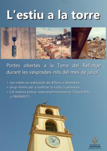 cartel de las visitas a la torre