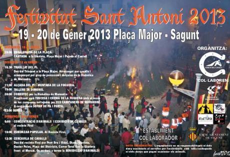 Fiestas de San Antonio Abad. Sagunto 2013