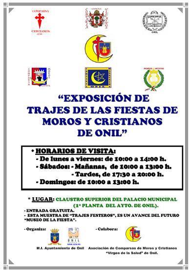 Exposición de Trajes de las Fiestas de Moros y Cristianos de Onil