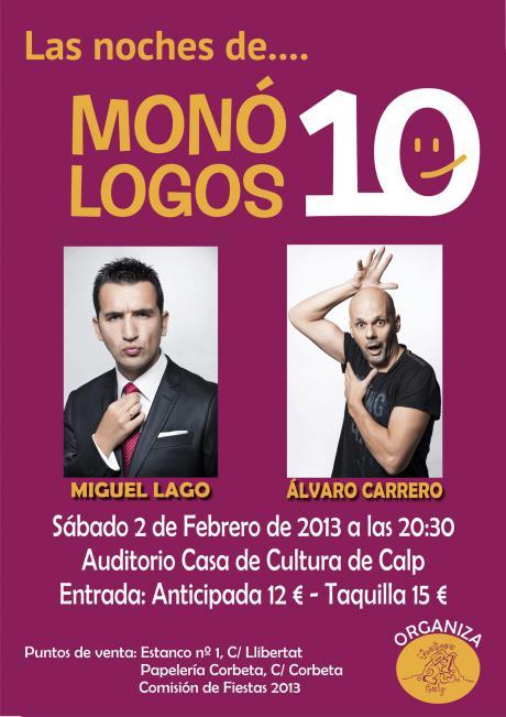 Las noches de....Monólogos 10: Miguel Lago y Álvaro Carrero