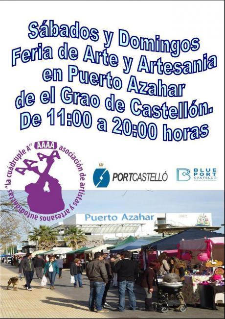 Feria de arte y artesanía en el Grao de Castellón