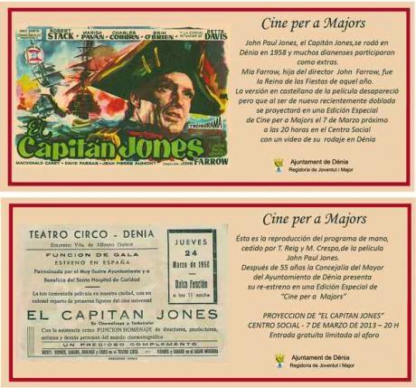 """Pelicula: """"El Capitan Jones"""". Rodaje en Dénia."""