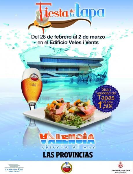 Fiesta de la Tapa. Valencia abierta al mar, en el Tinglado 2 de la Marina Real Juan Carlos I de Valencia