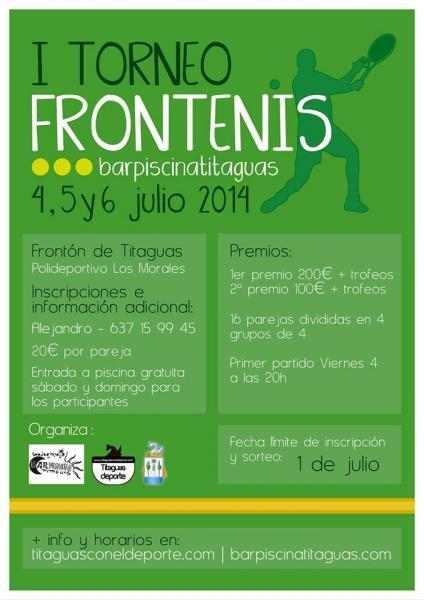 I TORNEO  FRONTENIS barpiscinatitaguas- TITAGUAS 2014
