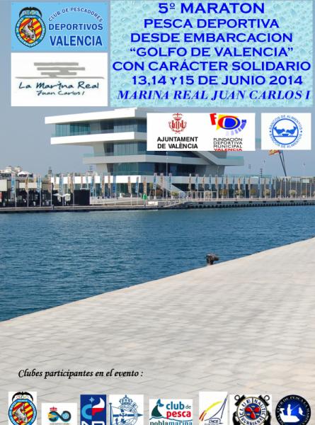 V Maratón de Pesca de Embarcación Fondeada Golfo de Valencia