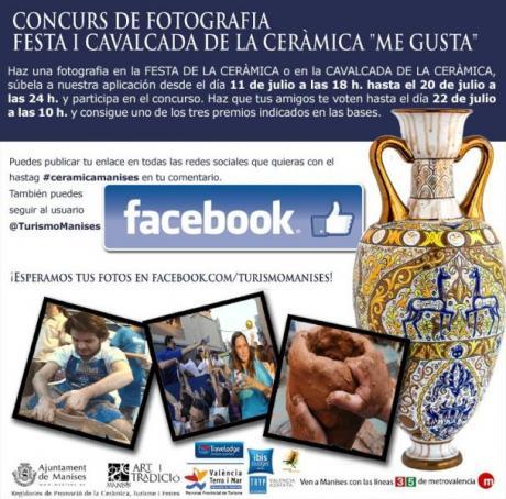 "3er Concurso de Fotografía ""Festa I Cavalcada de la Ceràmica ME GUSTA"" MANISES 2014"