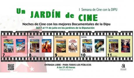 "Semana de cine con ""Un jardín de cine 2014 """