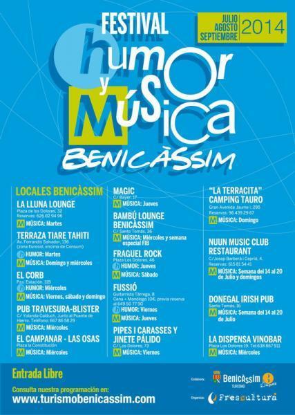 Benicàssim festival de Humor y Música - Verano 2014