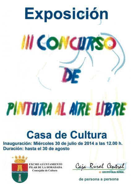 """Exposición de pintura """"Tercer concurso de pintura al aire libre"""" en Pilar de la Horadada 2014"""