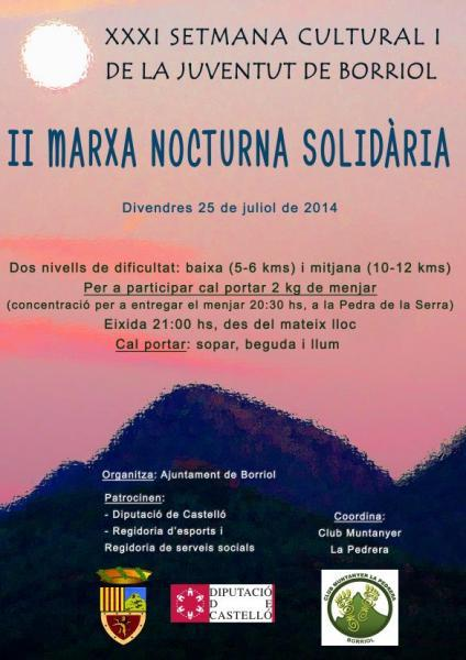 Marcha solidaria en Borriol