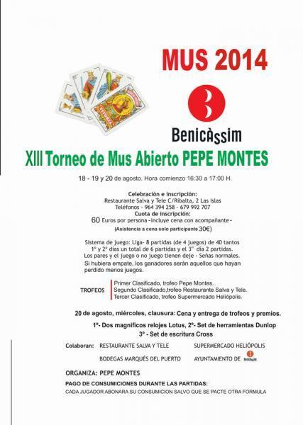 XIII Torneo de Mus Abierto Pepe Montes