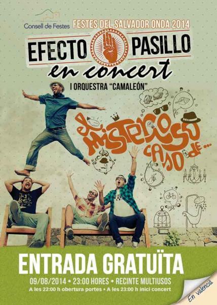 """CONCIERTO """"EFECTO PASILLO""""- FIESTAS """"EL SALVADOR 2014"""""""