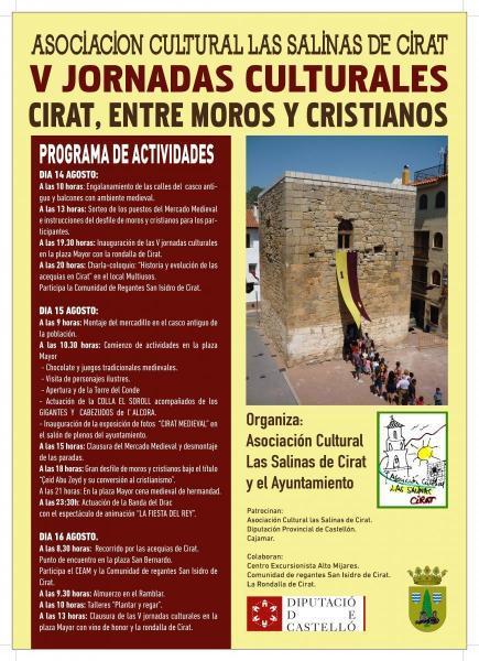 """Jornadas culturales """" Cirat entre moros y cristianos"""""""