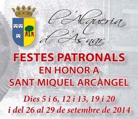 Fiestas Patronales de L'Alqueria d'Asnar en honor a San Miguel Arcángel 2014