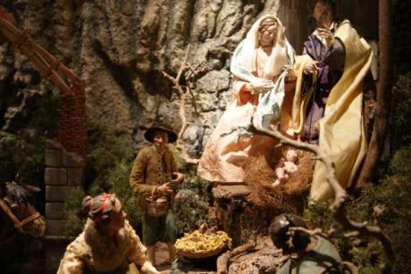 A Christmas Crib Scene at the museum