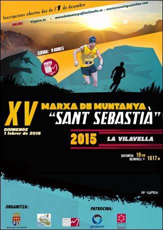 """XV Marcha de Montaña """"San Sebastián"""" 2015"""