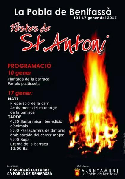 Festividad de San Antonio Abad en La Pobla de Benifassà